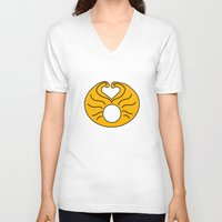 hedwig V-neck T-shirts featuring Hedwig Wig! by byebyesally