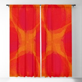 orange and flowers pattern Blackout Curtain