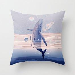 Whale dream Throw Pillow
