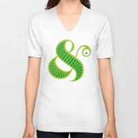 et V-neck T-shirts featuring Et worm by Robert Karpati
