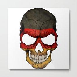 Exclusive Germany skull design Metal Print