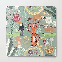 Rain forest animals 001 Metal Print