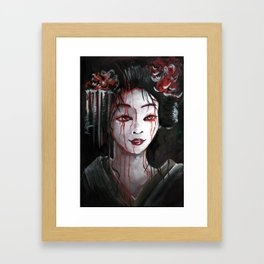 Geisha in Blood: The unwiling Concubine Framed Art Print