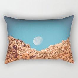 Moon over Anza Borrego Rectangular Pillow