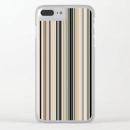 HIGH SOCIETY VINTAGE BEACH STRIPES 002 Clear iPhone Case