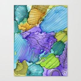 Washy doodle Canvas Print