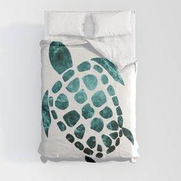 Minimal Sea Turtle #2 #animal #decor #art #society6 Comforters