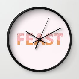 Feast I Wall Clock