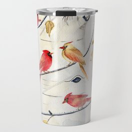 Winter Song 4 - Cardinal Birds Travel Mug