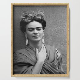 Frida Kahlo Celebrity Silk poster Serving Tray