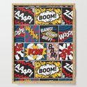 Modern Comic Book Superhero Pattern Color Colour Cartoon Lichtenstein Pop Art by seasonofvictory