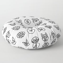 CUTE DOGS / PUPPIES PATTERN Floor Pillow
