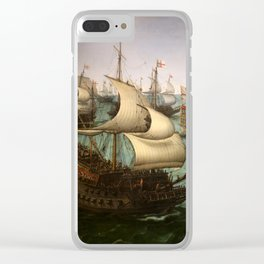 "Hendrick Cornelisz Vroom ""The meeting of Frederic V and Elizabeth Stuart on the sea"" Clear iPhone Case"