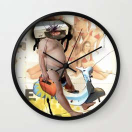 COLLAGE: Tormentone Wall Clock