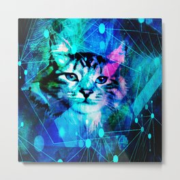 Kitty Cat Laser Lights at the Aleurorave Metal Print