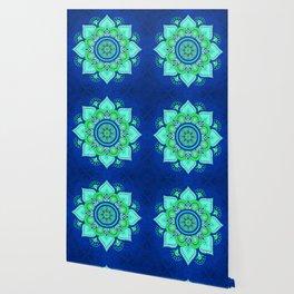 Blue Flower Mandala Wallpaper