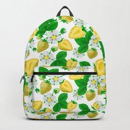 Yellow strawberries  Backpack