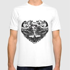 love birds  White Mens Fitted Tee MEDIUM