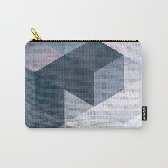 Abstract Geometric Print Carry-All Pouch