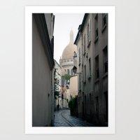 Sacre Coeur, Paris, France, 2009 Art Print