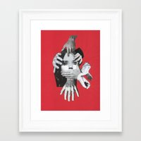 my mad fat diary Framed Art Prints featuring Mad by fabiotir