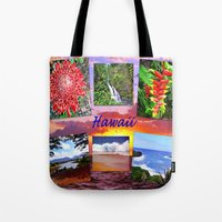 hawaii Tote Bags featuring Hawaii by Art-Motiva