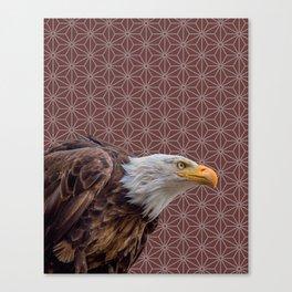Bald Eagle, Sable Brown Pattern montage Canvas Print