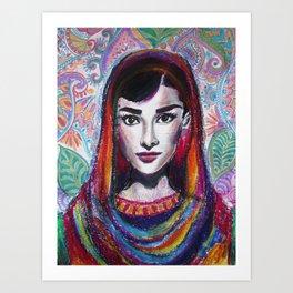 Hijabi Hepburn Art Print