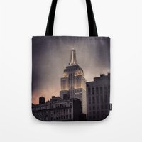 gotham Tote Bags featuring Gotham by Amritha Mahesh