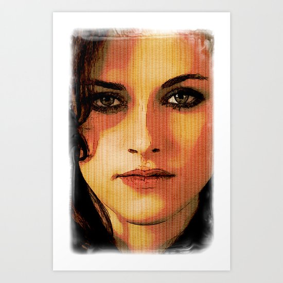 Kristen Stewart Portrait #2 Art Print