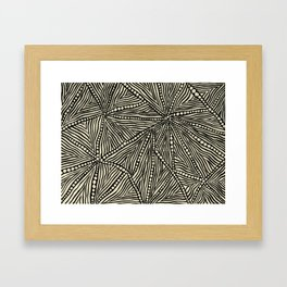 Black and Ivory Triangles Framed Art Print