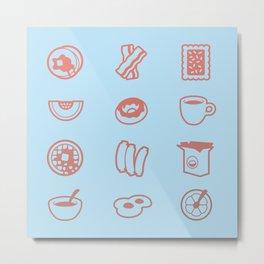 Breakfast Buffet Metal Print