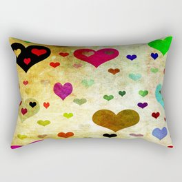 Grunge Hearts Rectangular Pillow