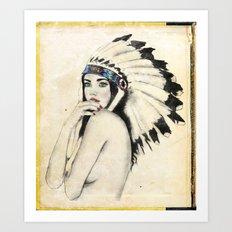 Like a native Art Print