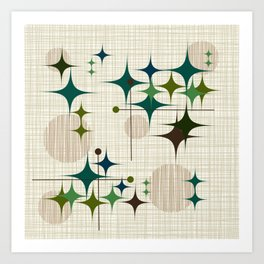 Starbursts and Globes 1 Art Print