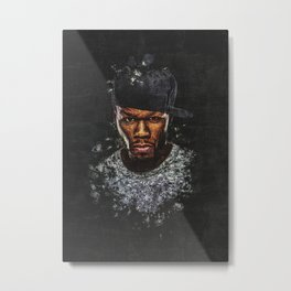 50 Cent Splatter Painting Metal Print