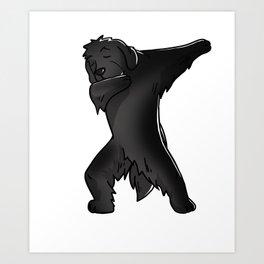 Funny Dabbing Newfoundland Dog Dab Dance Art Print