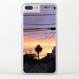 Sunset Lines Clear iPhone Case