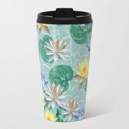 seamless pattern ot beautiful lotuses Travel Mug