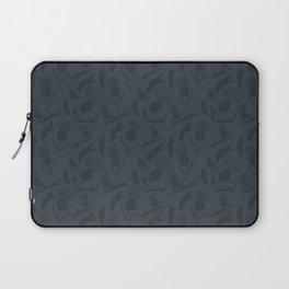 Charcoal Grey Scottish Thistles Pattern Laptop Sleeve