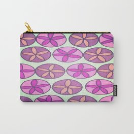 Pink and Purple Floral Pattern Carry-All Pouch