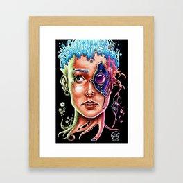 Conexión Cerebro-celular Framed Art Print