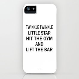 Hit the gym iPhone Case