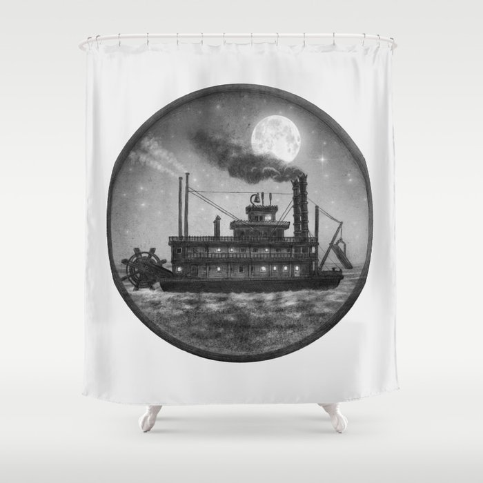 Paddle Boat  Shower Curtain