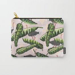 Ostrich leaf and triangles Carry-All Pouch