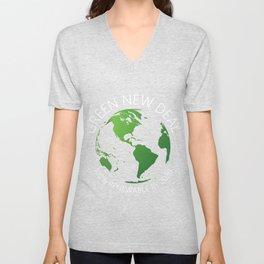 Green New Deal Unicorn Activist Socialist Equity Climate Change Gretta Thunberg Unisex V-Neck