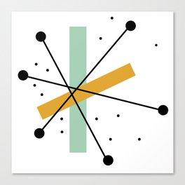 Retro Minimalist Mid Century Modern Pattern Design Canvas Print