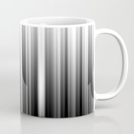 Black And White Soft Blurred Vertical Lines - Ombre Abstract Blurred Design Coffee Mug