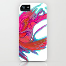Bright abstract butterfly iPhone Case