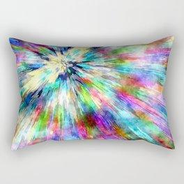 Colorful Tie Dye Watercolor Rectangular Pillow